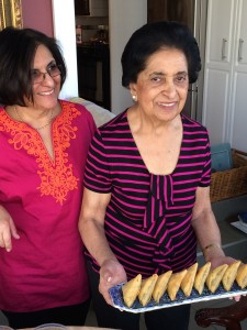 Noorbanu's daughter Khadija helps with recipe testing and prep for photography - photo - Karen Anderson