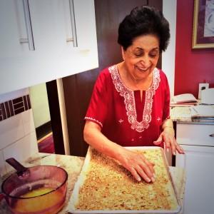 Noorbanu Nimji - recipe testing for book four - photo - Karen Anderson